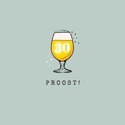 Verjaardagskaart felicitatie man bier confetti pijltjes 2