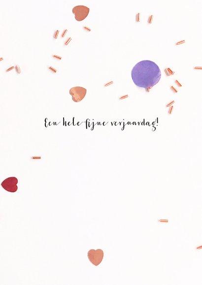 Verjaardagskaart felicitatie toverstaf confetti 3