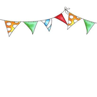 Verjaardagskaart flamingo in cupcake 2