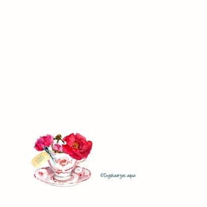 Verjaardagskaart Fleurig kopje bloemen 2