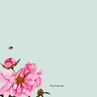 Verjaardagskaart fleurige pioenrozen 2