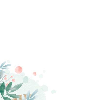 Verjaardagskaart floral waterverf 2