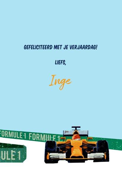 Verjaardagskaart Formule 1 3