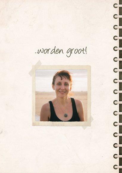 Verjaardagskaart fotoboek 'kleine meisjes worden groot' 2