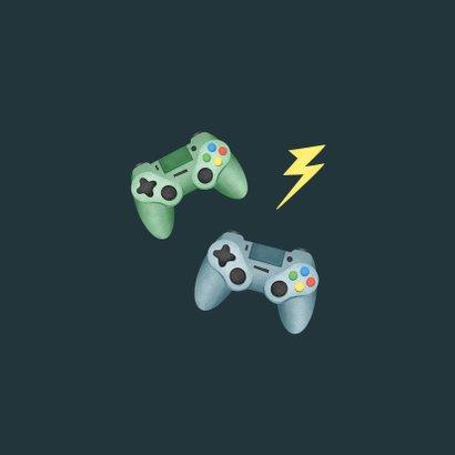 Verjaardagskaart gamen controllers level kind 2