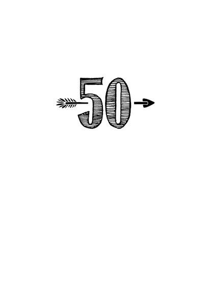 Verjaardagskaart geboren in 1970 - 50 jaar Sarah 3