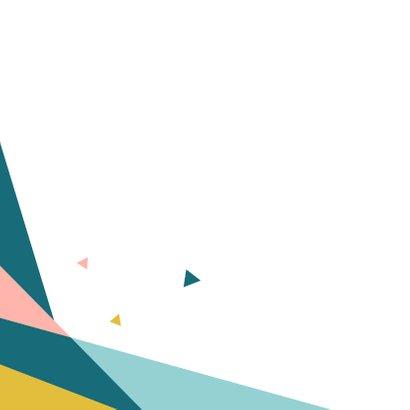 Verjaardagskaart geometrisch driehoek 2