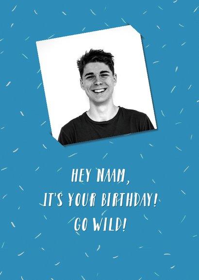 Verjaardagskaart go wild 2