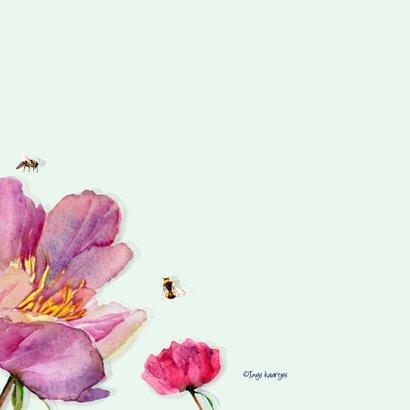 Verjaardagskaart Grote kleurrijke bloemen 2