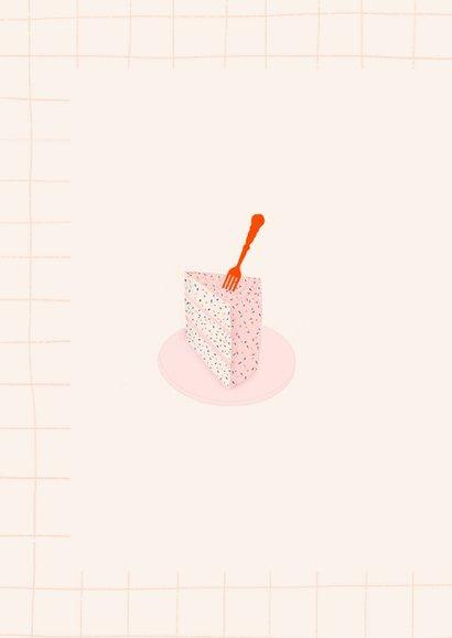Verjaardagskaart - grote taart klein meisje 2