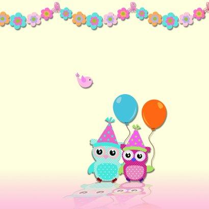 Verjaardagskaart guirlande meisje 2