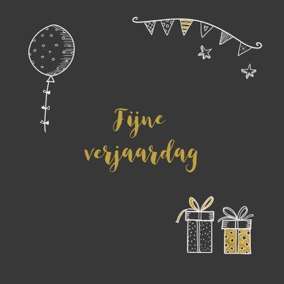 Verjaardagskaart handlettering krijtbord 3