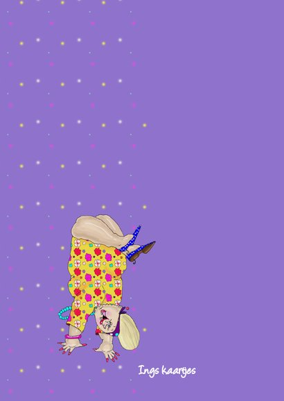 Verjaardagskaart Handstand 2