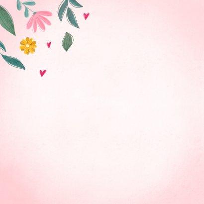 Verjaardagskaart happy bday vrolijk met bloemen 2