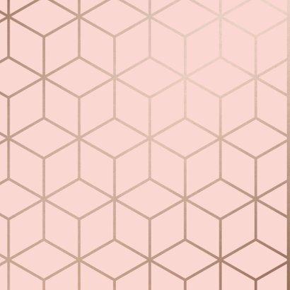 Verjaardagskaart Happy Birthday geometrisch patroon roze 2