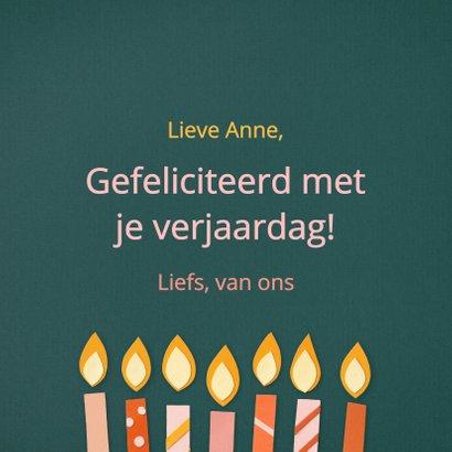 Verjaardagskaart Happy Birthday met kaarsen 3