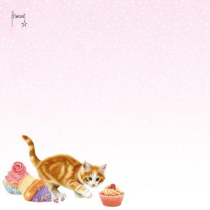 Verjaardagskaart hart van gebakjes 2