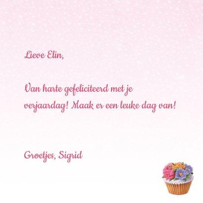 Verjaardagskaart hart van gebakjes 3