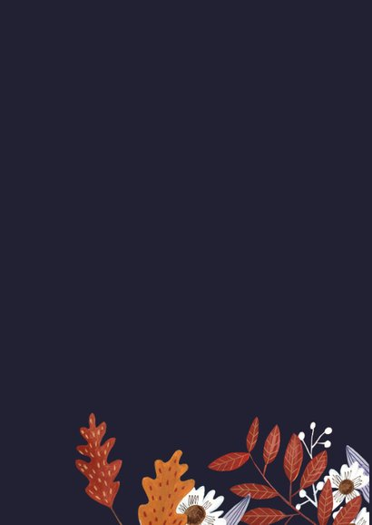 Verjaardagskaart herfstbladeren met foto collage 2
