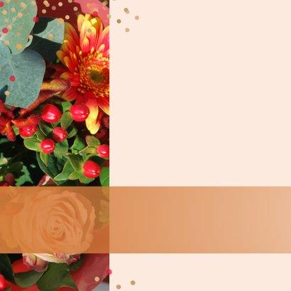 Verjaardagskaart herfstbloemen  2