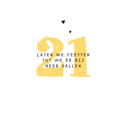 Verjaardagskaart hip lama feest slingers doodle hartjes 2