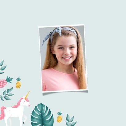 verjaardagskaart hip meisje unicorn eenhoorn ananas 2