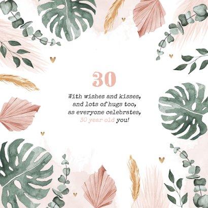 Verjaardagskaart hip stijlvol bloemen eucalyptus waterverf 2