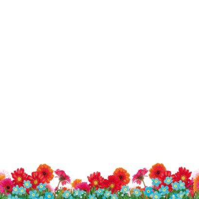 Verjaardagskaart hippe struisvogel blauw 2