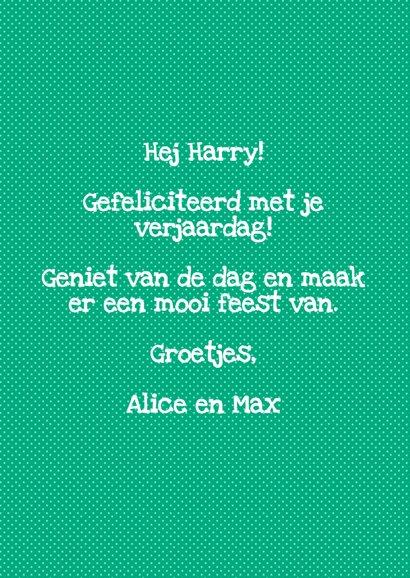 Verjaardagskaart Hoera Harry 3