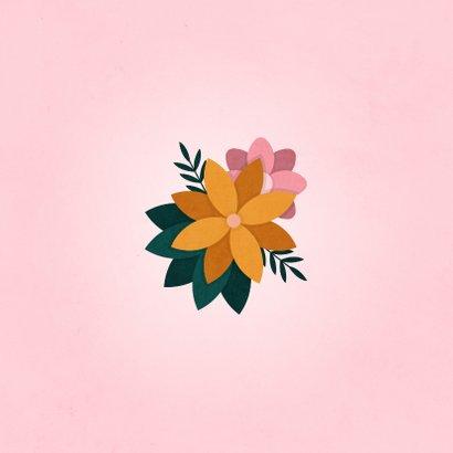 Verjaardagskaart hoera met bloemen 2
