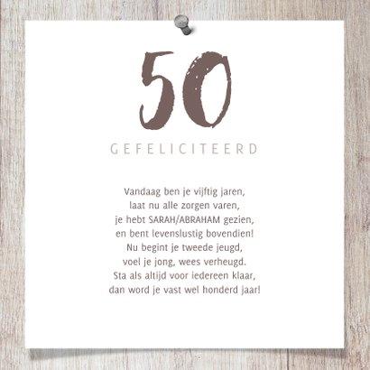 Verjaardagskaart hout met fotocollage en spijkers 3