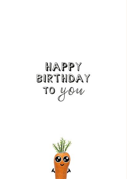 Verjaardagskaart humor met tekst you're old bij wortel 2