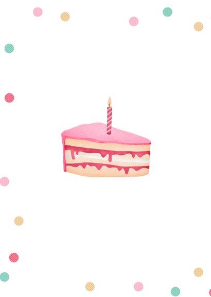 Verjaardagskaart humor taart confetti vrouw 2