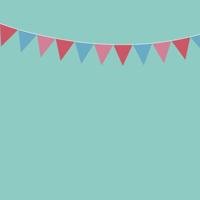 Verjaardagskaart - ijsbeer met roze feestmuts 2