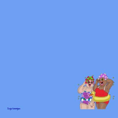 Verjaardagskaart Jarig in badpak 3
