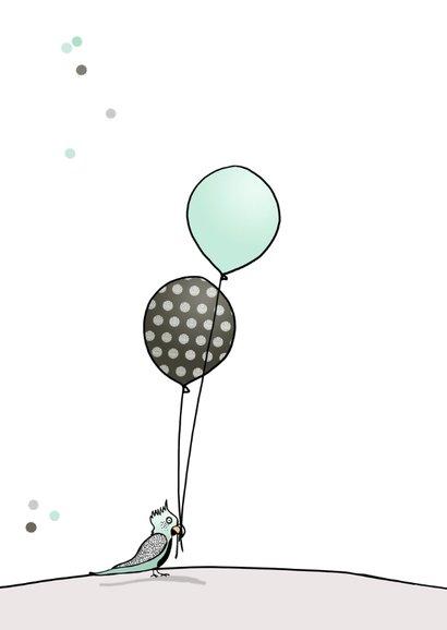 Verjaardagskaart jongen ballon a 2