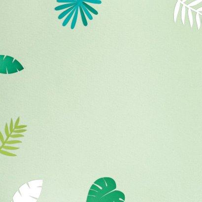 Verjaardagskaart jungle bladeren rand 2