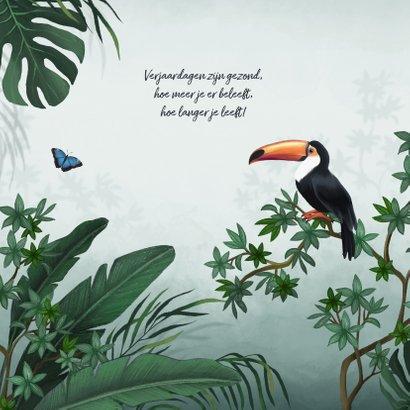 Verjaardagskaart jungle toekan 2