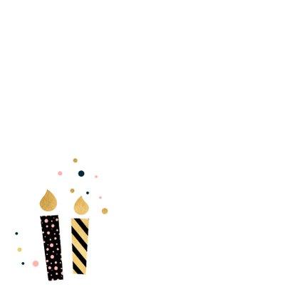 Verjaardagskaart kaarsen stippen 2