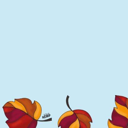 Verjaardagskaart Kat in de herfst  - SK 2