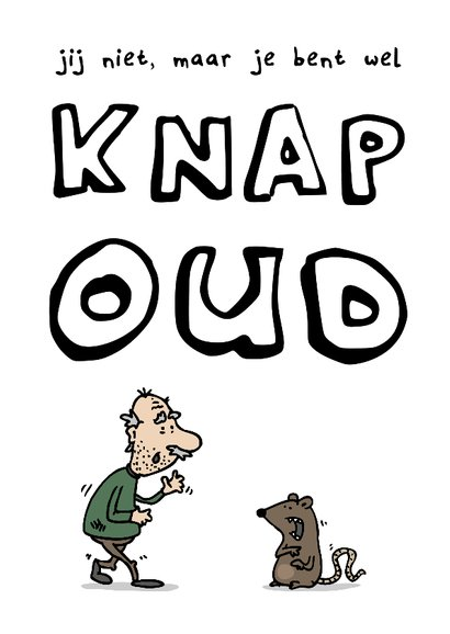 Verjaardagskaart Knap Oud 2