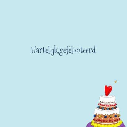 Verjaardagskaart Kokkin met grote taart 3