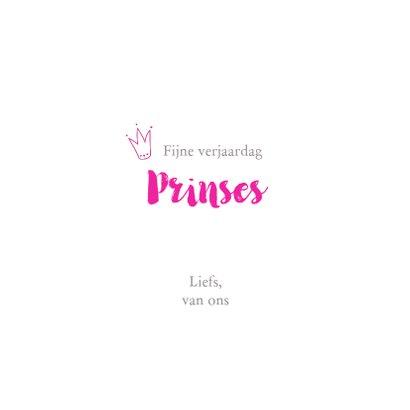 Verjaardagskaart - Konijn prinses 3