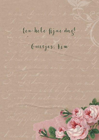 Verjaardagskaart kraftlook rozen 3