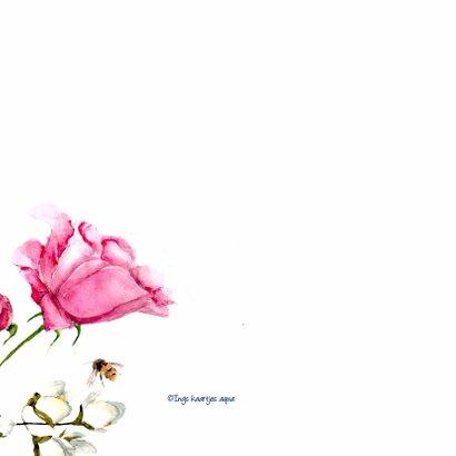 Verjaardagskaart Lieve bloemen met vlinder 2