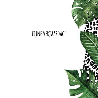 Verjaardagskaart luipaard jungle 3