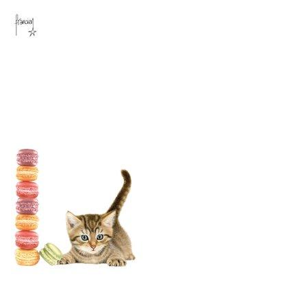 Verjaardagskaart Macarons Kitten 2