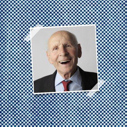 Verjaardagskaart man 80 jaar retro kunst patroon 2