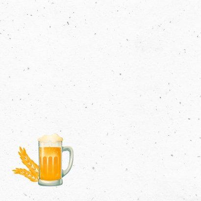 Verjaardagskaart man bier hip foto cheers 2
