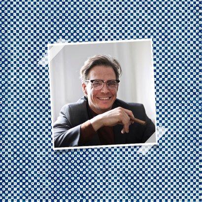 Verjaardagskaart man blauw kunst 50 gefeliciteerd 2